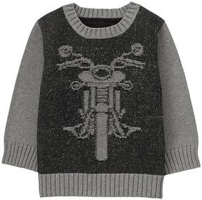 Gymboree Black Intarsia Knit Moto Sweater - Infant, Toddler & Boys