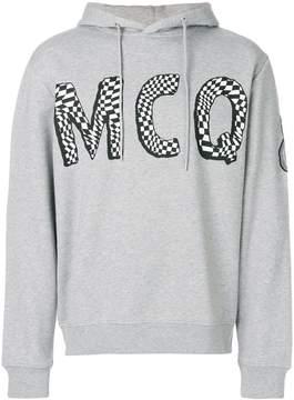 McQ logo print hoddie