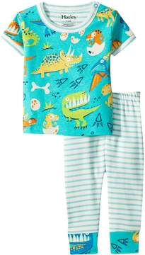Hatley Dinosaur Land Short Sleeve Mini Pajama Set Boy's Pajama Sets