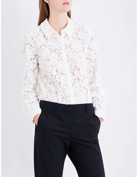 Claudie Pierlot Floral-lace and jersey body