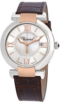 Chopard Imperiale Mother of Pearl Dial Leather Ladies Watch