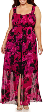 Connected Apparel Sleeveless Maxi Dress-Plus