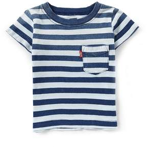 Levi's Baby Boys 12-24 Months Indigo Sunset Striped Pocket Tee