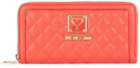 Love Moschino Women's Quilted Zip-Around Wallet