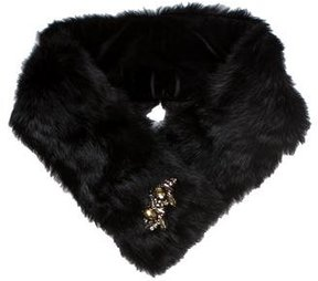 Adrienne Landau Rabbit Fur Embellished Stole