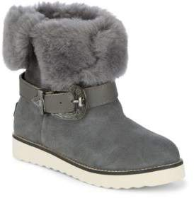 Australia Luxe Collective Yvent Shearling Trim Buckled Boots