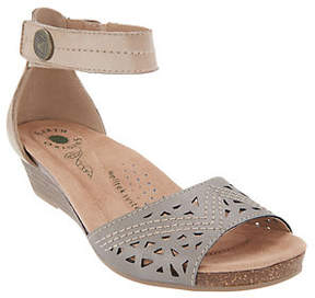 Earth Origins Wedge Sandals with Ankle Strap -Honey