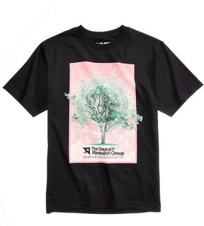 Lrg Men's Tree Grid Graphic-Print T-Shirt