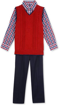 Nautica 3-Pc. Sweater Vest, Shirt & Pants Set, Little Boys (4-7)