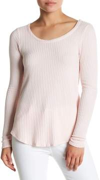 Chaser T-Back Textured Knit Long Sleeve Tee