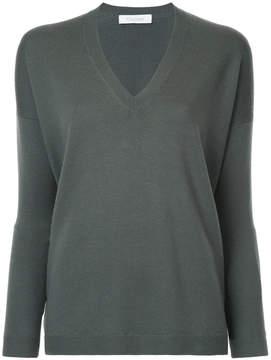 Cruciani V-neck plunge fine knit sweater