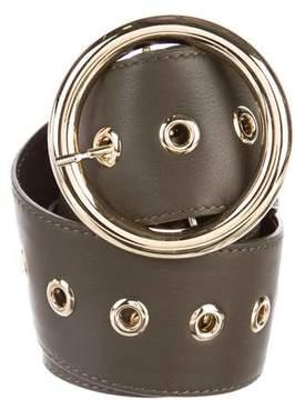 Elie Saab Leather Wide Belt