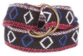 Maje Woven D-Ring Belt