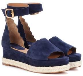 Chloé Lauren platform suede sandals
