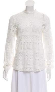 BA&SH Crochet Long Sleeve Top