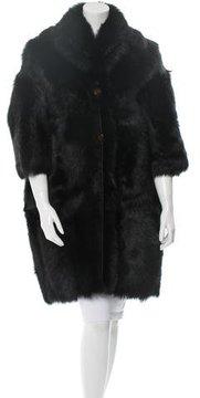 Celine Oversize Shearling Coat w/ Tags