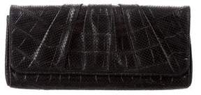 Lauren Merkin Perforated Pleated Leather Clutch