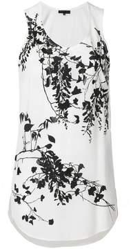 Barbara Bui floral flared vest top
