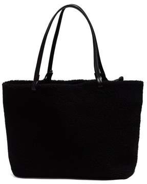 The Row Park Shearling Tote Bag - Womens - Black