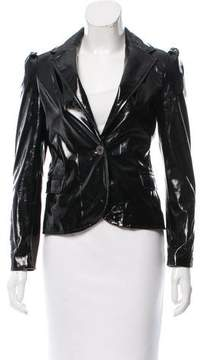 Blank NYC Patent Leather Long Sleeve Jacket