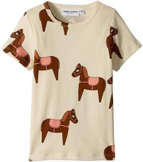 Mini Rodini Horse Short Sleeve T-Shirt Girl's T Shirt