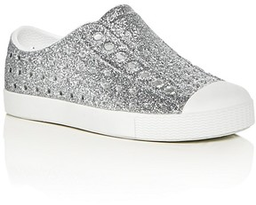 Native Girls' Jefferson Glitter Perforated Slip-On Sneakers - Walker, Toddler, Little Kid