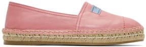 Prada Pink Platform Espadrilles