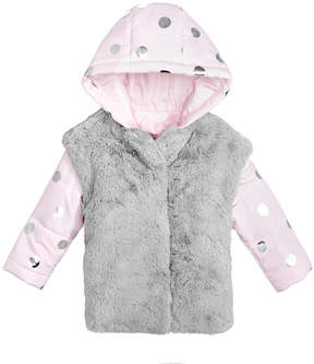 First Impressions Hooded Puffer Jacket with Faux-Fur Vest, Baby Girls (0-24 months), Created for Macy's