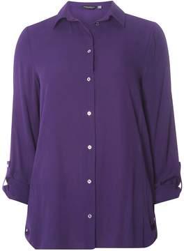 Dorothy Perkins **Tall Purple Roll Sleeve Side Tab Shirt