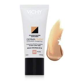 Vichy Dermafinish Corrective Fluid Foundation Broad Spectrum SPF 30 - Nude