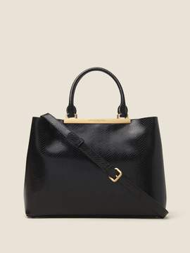 DKNY Mally Snake-Embossed Leather Tote