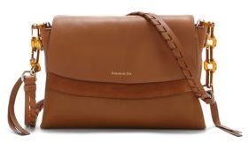 Louise et Cie Renea Leather and Suede Crossbody Bag