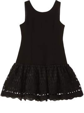 Nanette Lepore Ponte Knit Lace Dress