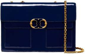 Tory Burch GEMINI LINK PATENT LARGE CHAIN SHOULDER BAG - ROYAL NAVY - STYLE