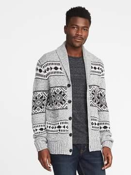 Old Navy Shawl-Collar Wool-Blend Cardigan for Men