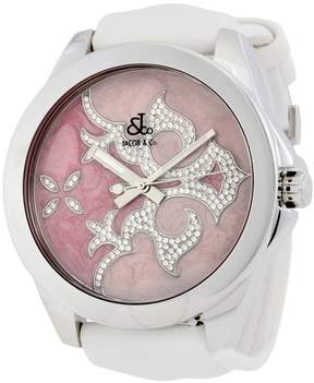 Jacob & co Jacob and Co. One Time Zone Pink Diamond Dial Ladies Watch