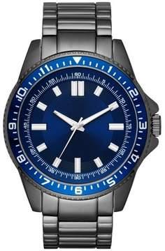 Merona Men's Sport Bracelet Watch Gunmetal/Blue