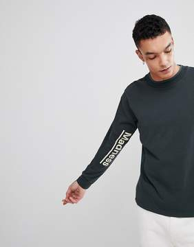 Champion x Wood Wood Madness Long Sleeve T-Shirt In Green