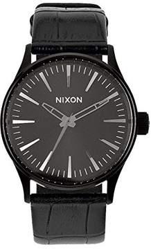 Nixon Sentry 38 Leather Watch Mens