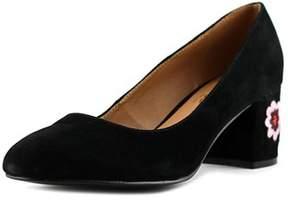 Nanette Lepore Daphne Women Round Toe Suede Black Heels.