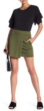 1 STATE 1.State Wrap Front Mini Skirt