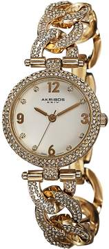 Akribos XXIV Gold-tone Alloy Ladies Watch