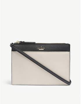 Kate Spade Tusk Beige and Black Cameron Street Clarise Saffiano Leather Cross Body Bag