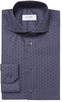 Eton Men's Floral Slim Fit Dress Shirt