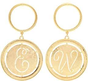 Emilia Wickstead Glenda gold-plated hoop and disc-drop earrings