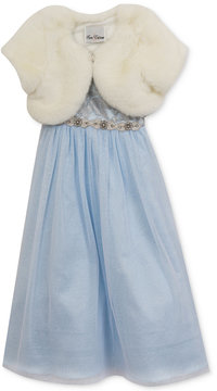 Rare Editions 2-Pc. Maxi Dress & Faux-Fur Shrug Set, Toddler Girls (2T-5T)
