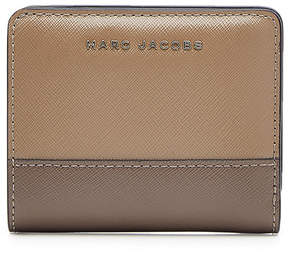 Marc Jacobs Leather Compact Wallet - MULTICOLORED - STYLE