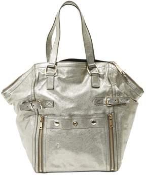 Saint Laurent Downtown leather handbag - SILVER - STYLE