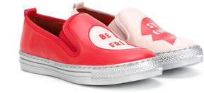 Stella McCartney embroidered slip-on sneakers