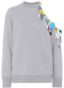 Christopher Kane Embellished cotton sweatshirt